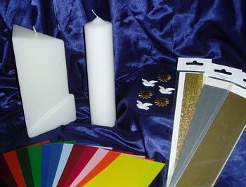 gro e auswahl an taufkerzen im shop taufkerzen selber machen. Black Bedroom Furniture Sets. Home Design Ideas