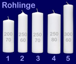 Taufkerze - Rohling 3